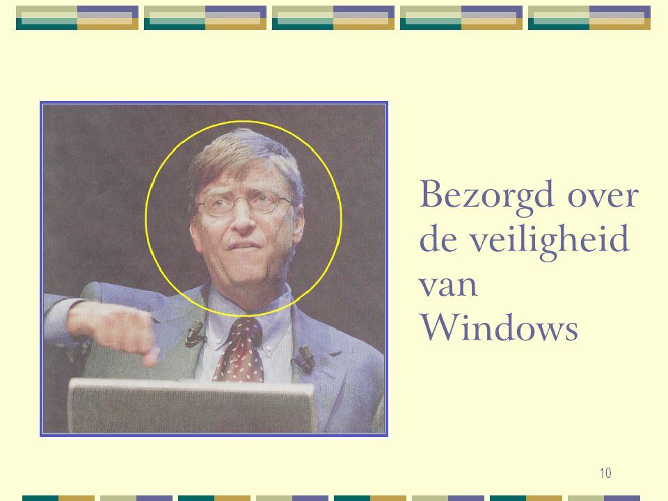 10 Bezorgd over de veiligheid van Windows