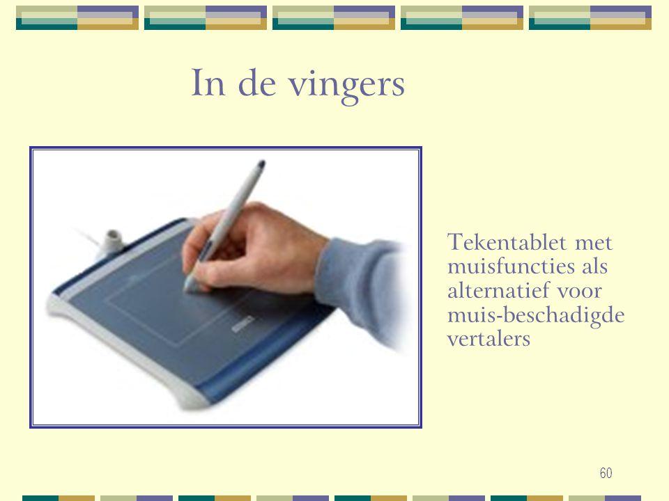 60 In de vingers Tekentablet met muisfuncties als alternatief voor muis-beschadigde vertalers