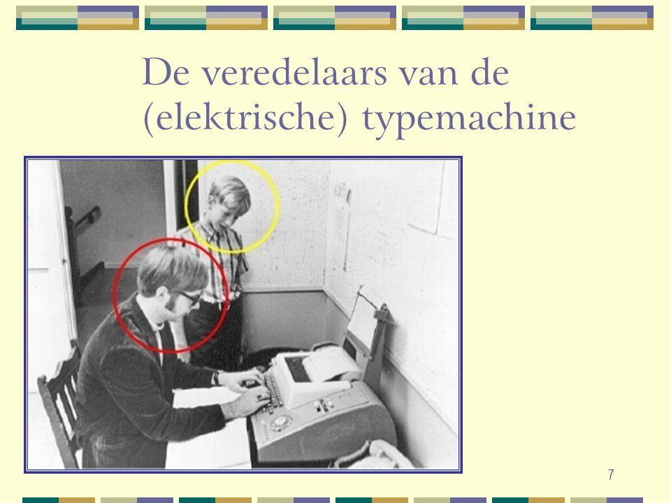 7 De veredelaars van de (elektrische) typemachine