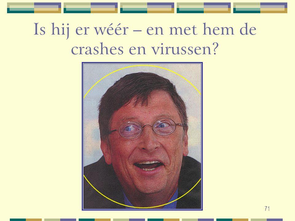 71 Is hij er wéér – en met hem de crashes en virussen?