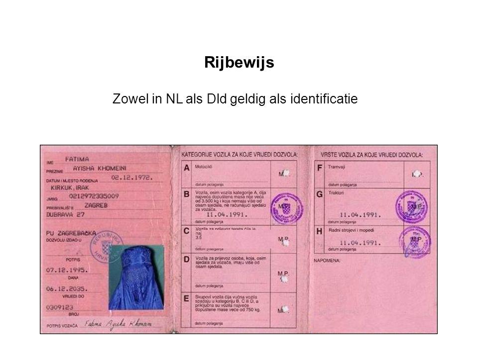 Rijbewijs Zowel in NL als Dld geldig als identificatie