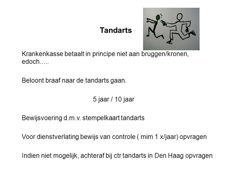Tandarts Krankenkasse betaalt in principe niet aan bruggen/kronen, edoch.....