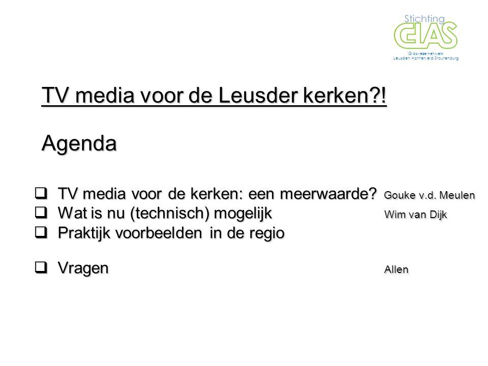  TV media voor de kerken: een meerwaarde. Gouke v.d.