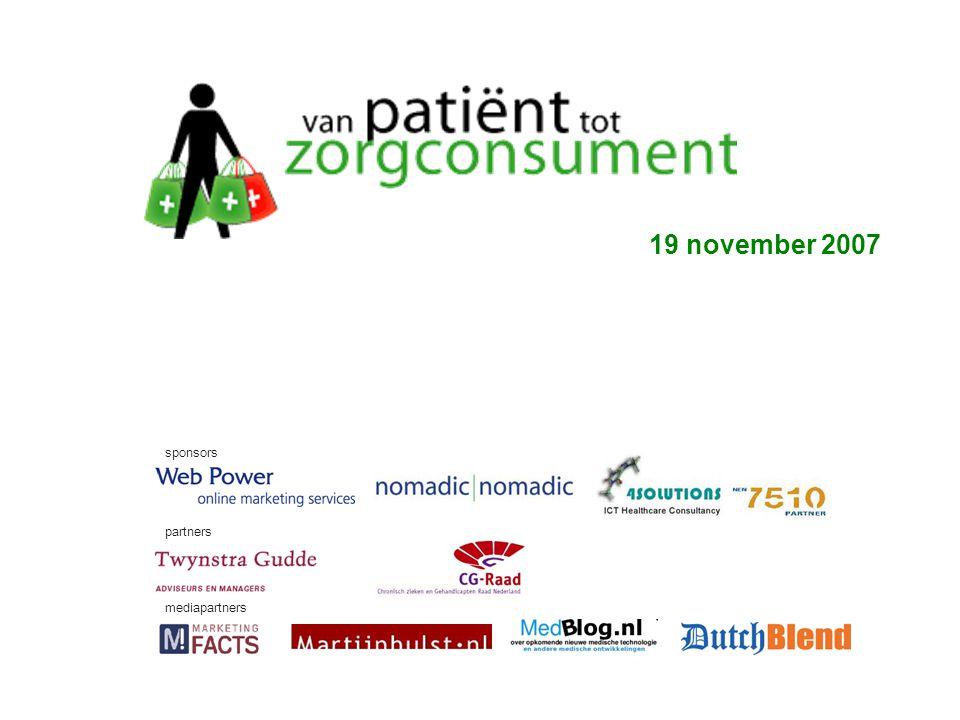 Martijn Hulst Amersfoort 17 november 2007 19 november 2007 sponsors partners mediapartners