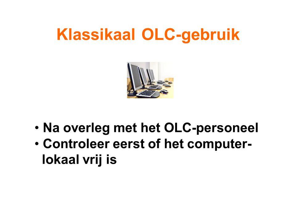 Het OLC-personeel helpt de leerling daar waar nodig is. Na het maken van de opdracht wordt de leerling naar de klas terug gestuurd.