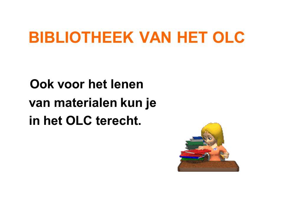 Klassikaal OLC-gebruik • Na overleg met het OLC-personeel • Controleer eerst of het computer- lokaal vrij is