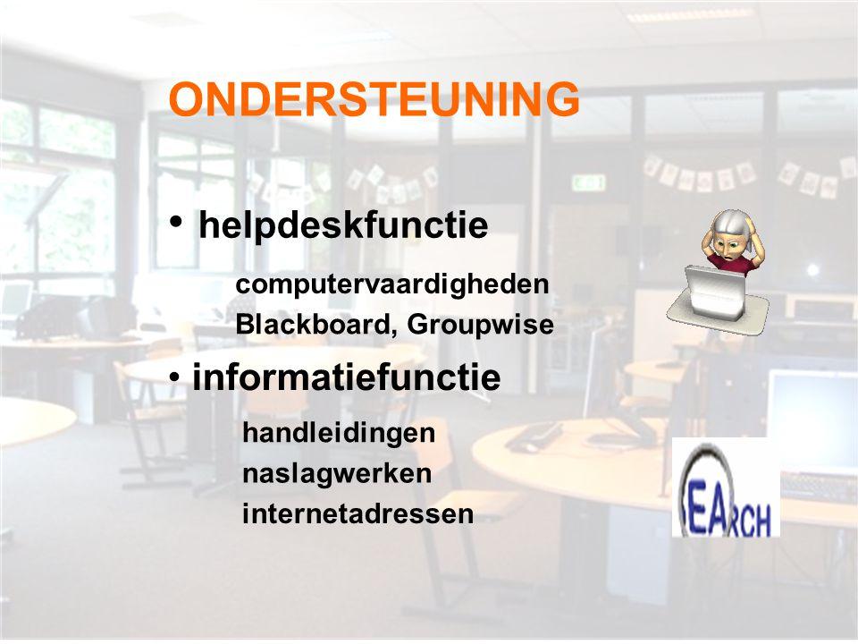 BEGELEIDING Alle gebruikers: • leerlingen • docenten OLC-opdrachten • o.o.p.