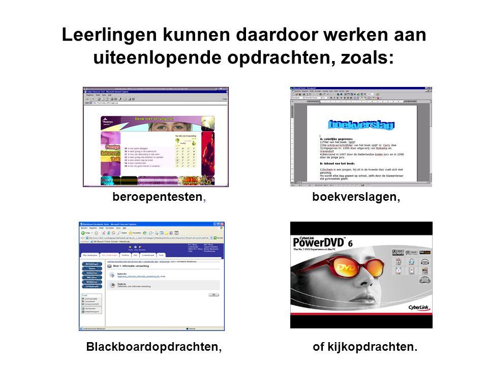 Computerwerkplekken in het OLC De computers in het OLC zijn uitgerust met dvd-speler en aangesloten op een (kleuren)printer.
