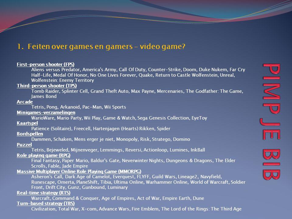 1.Feiten over games en gamers – video game.