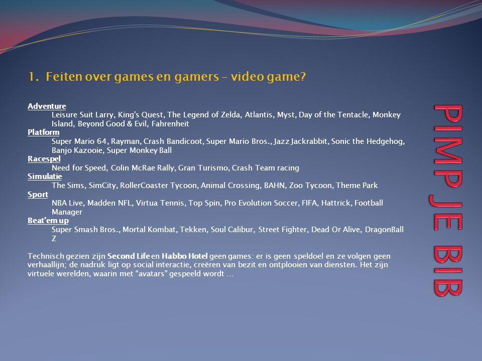 1.Feiten over games en gamers – video game? Adventure Leisure Suit Larry, King's Quest, The Legend of Zelda, Atlantis, Myst, Day of the Tentacle, Monk