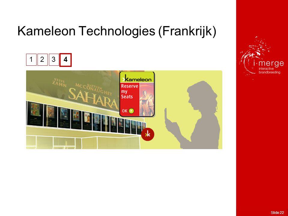 Slide 22 Kameleon Technologies (Frankrijk) 123 4