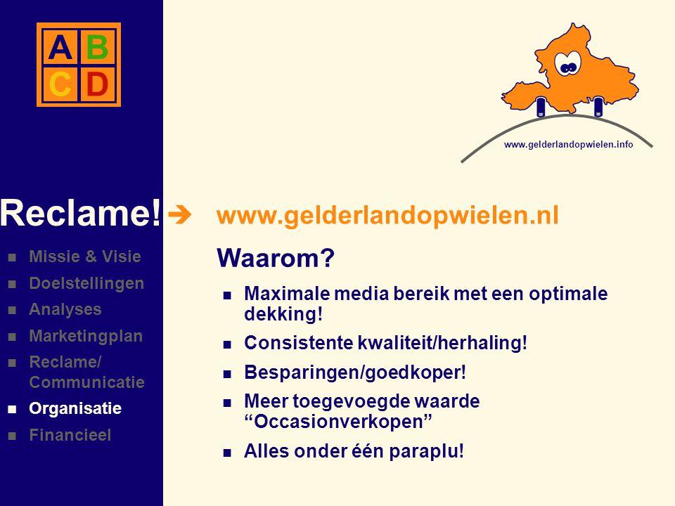  www.gelderlandopwielen.nl Reclame.Waarom.  Maximale media bereik met een optimale dekking.