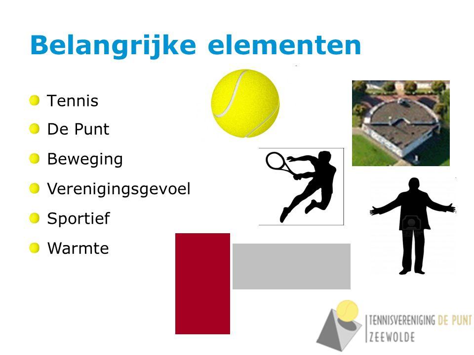 Belangrijke elementen Tennis De Punt Verenigingsgevoel Sportief Warmte Beweging