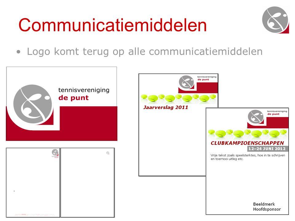 Communicatiemiddelen •Logo komt terug op alle communicatiemiddelen
