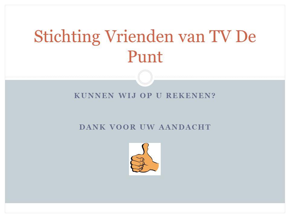 •onderwerpen TV De Punt Even pauze……