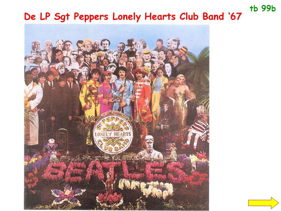 De LP Sgt Peppers Lonely Hearts Club Band '67 maakt van popmuziek een erkende kunstvorm. Vanaf dan is er rockmuziek High culture; LP's en popmuziek lo