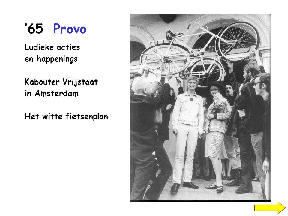 '65Provo Ludieke acties en happenings Kabouter Vrijstaat in Amsterdam Het witte fietsenplan