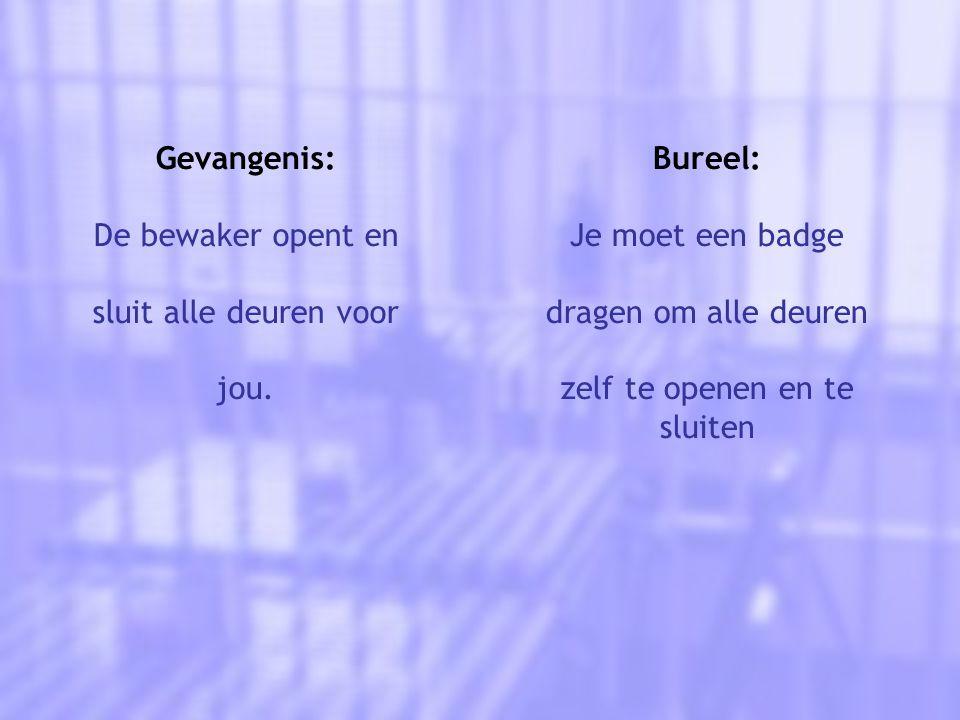 Gevangenis: De bewaker opent en sluit alle deuren voor jou.