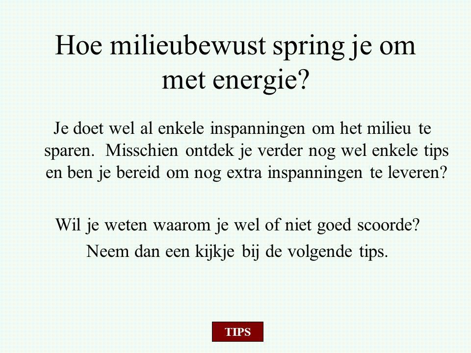 10 tips om energie te besparen Klik op een afbeelding om de bijhorende tip te zien EXIT OPNIEUW STARTEN