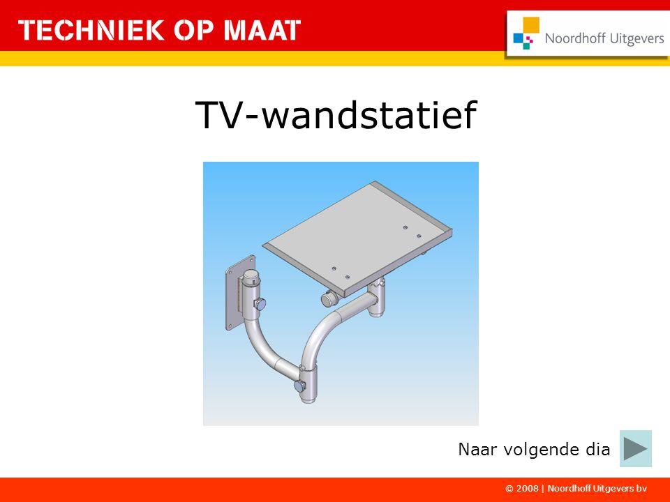 © 2008 | Noordhoff Uitgevers bv Je maakt het TV- wandstatief in twee deelopdrachten.
