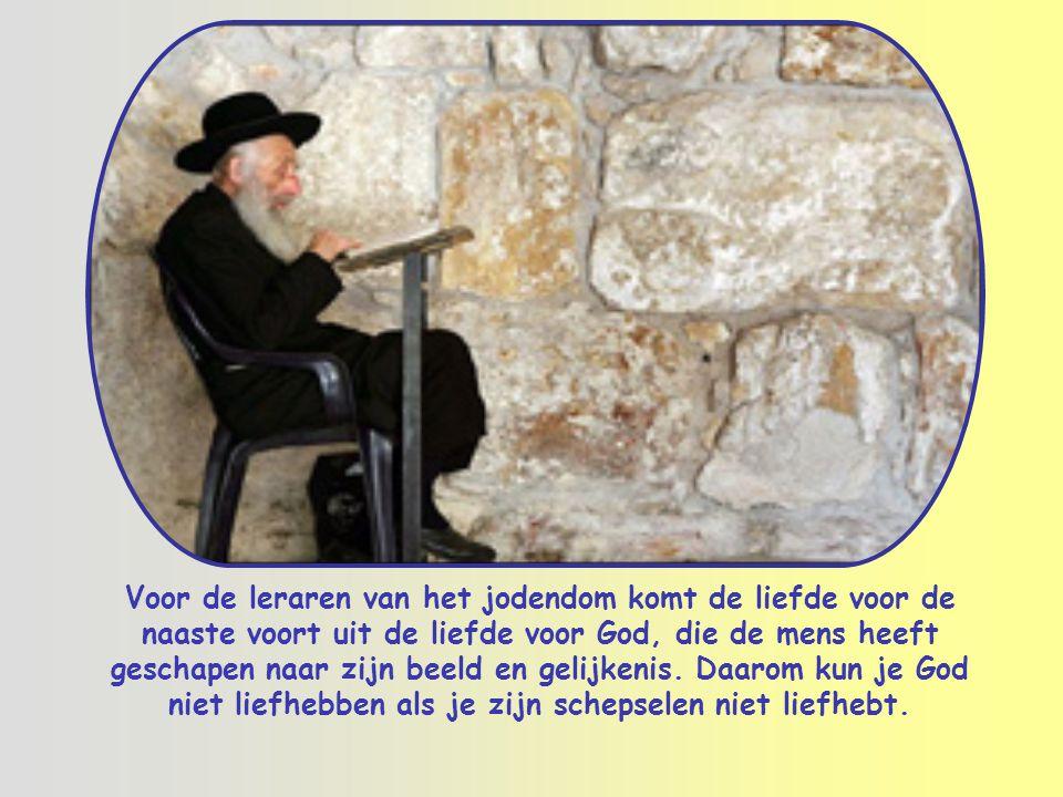 """Ook rabbi Hillel, een tijdgenoot van Jezus, had gezegd: """"Doe je naaste niet aan wat je zelf onaangenaam vindt. Dat is heel de wet. De rest is alleen u"""