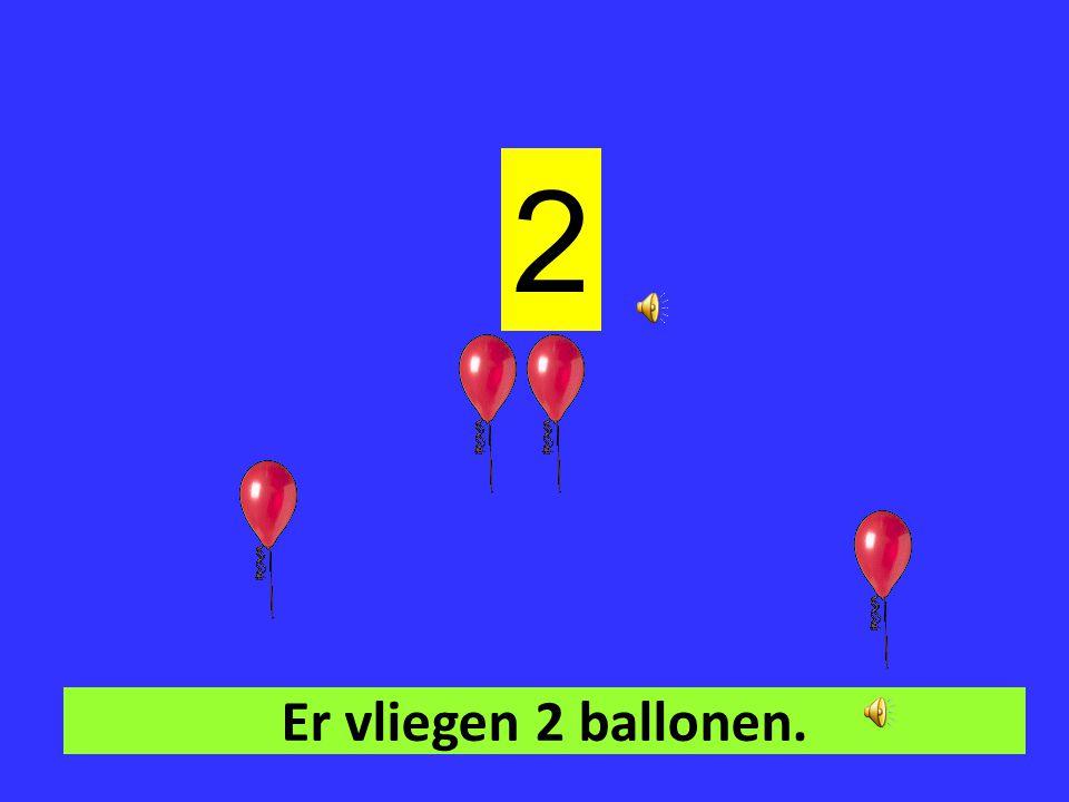 Er vliegt 1 ballon. 1
