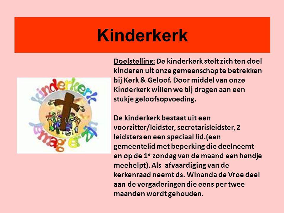 Kinderkerk Doelstelling: De kinderkerk stelt zich ten doel kinderen uit onze gemeenschap te betrekken bij Kerk & Geloof. Door middel van onze Kinderke
