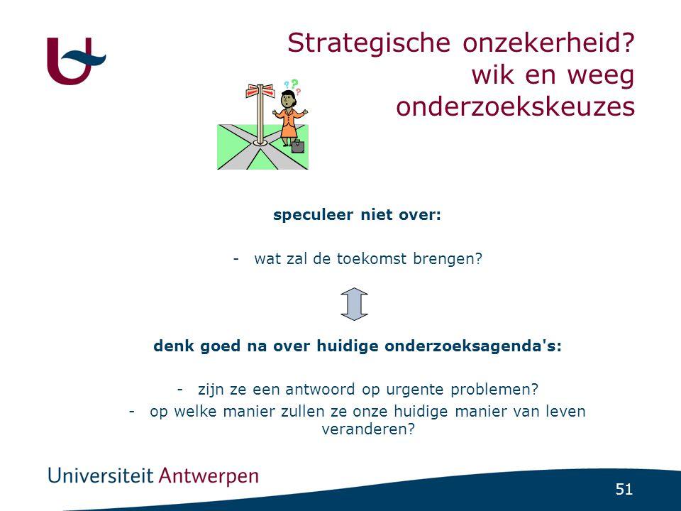 51 Strategische onzekerheid.