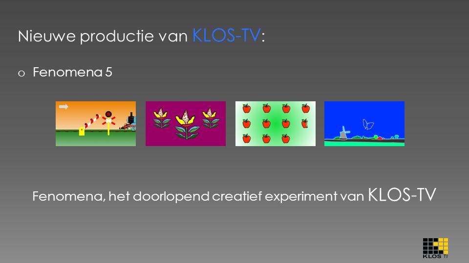 Nieuwe productie van KLOS-TV : o Fenomena 5 Fenomena, het doorlopend creatief experiment van KLOS-TV