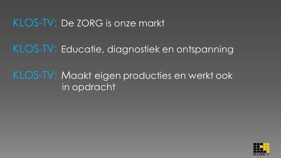 Voorbeeld van een vraag aan KLOS-TV uit de markt : o Koninklijke Visio-Leeuwarden: Bij de diagnose van Celebrale Visuele Inperking gebruiken wij lijntekeningen.