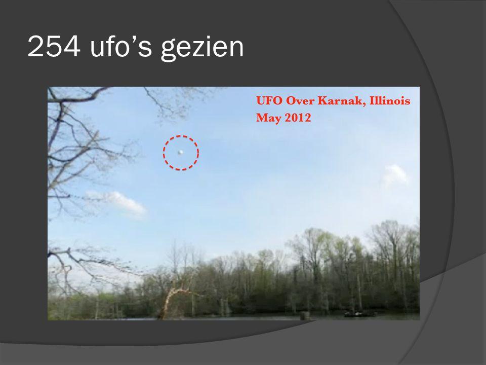 254 ufo's gezien