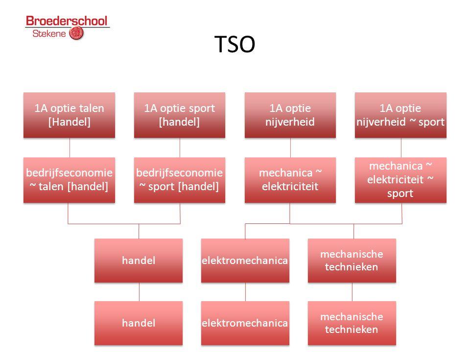 TSO 1A optie talen [Handel] bedrijfseconomie ~ talen [handel] 1A optie sport [handel] bedrijfseconomie ~ sport [handel] 1A optie nijverheid mechanica