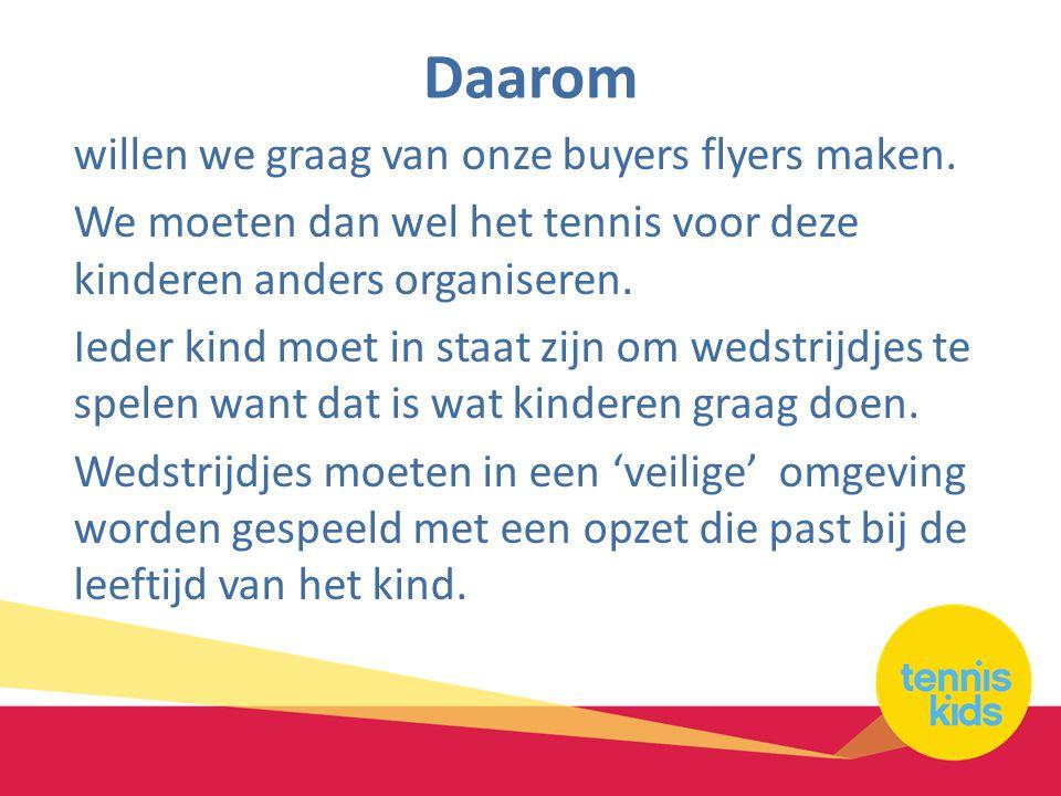 Daarom willen we graag van onze buyers flyers maken.