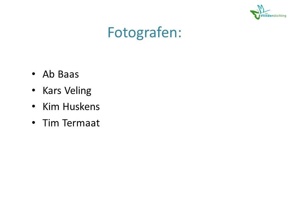 Fotografen: • Ab Baas • Kars Veling • Kim Huskens • Tim Termaat