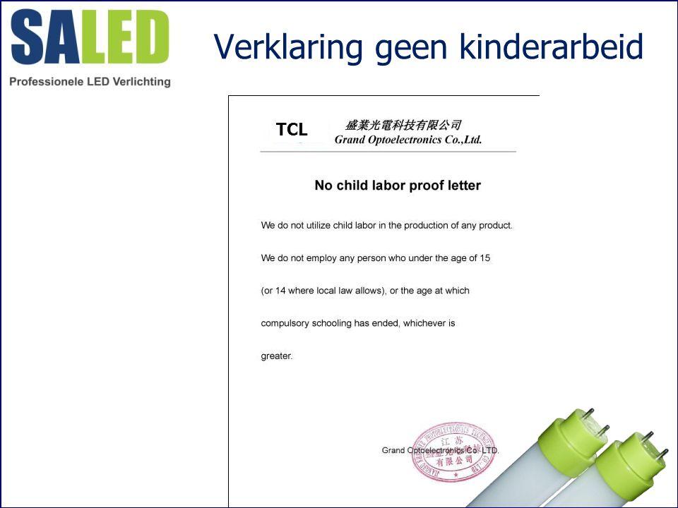 Verklaring geen kinderarbeid TCL