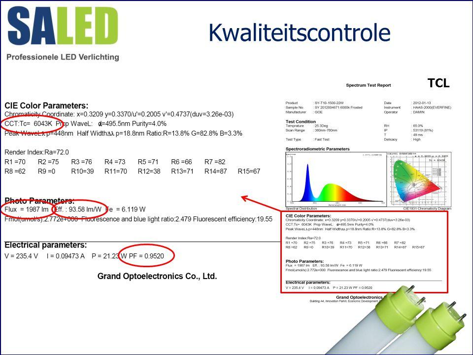 Kwaliteitscontrole TCL