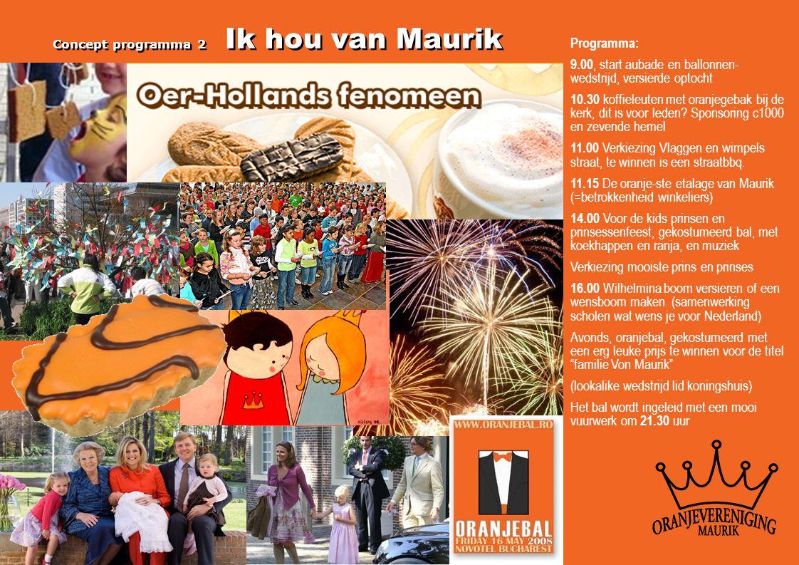 Programma: 9.00, start aubade en ballonnen- wedstrijd, versierde optocht 10.30 koffieleuten met oranjegebak bij de kerk, dit is voor leden? Sponsoring