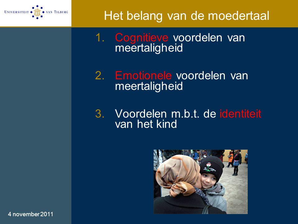 1.Cognitieve voordelen van meertaligheid 2.Emotionele voordelen van meertaligheid 3.Voordelen m.b.t.