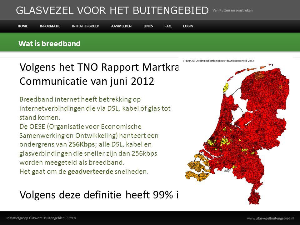 Waarom dan toch zoveel aandacht voor dit onderwerp Bron: Analyse Nederlandse breedbandinfrastructuur 2010 Deloitte Touche Tohmatsu Maximaal bandbreedte gebruik (download) per huishouden (2010 versus 2013) Is 256Kbps dan voldoende?