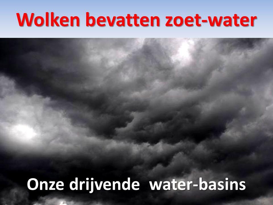 Wolken bevatten zoet-water Onze drijvende water-basins