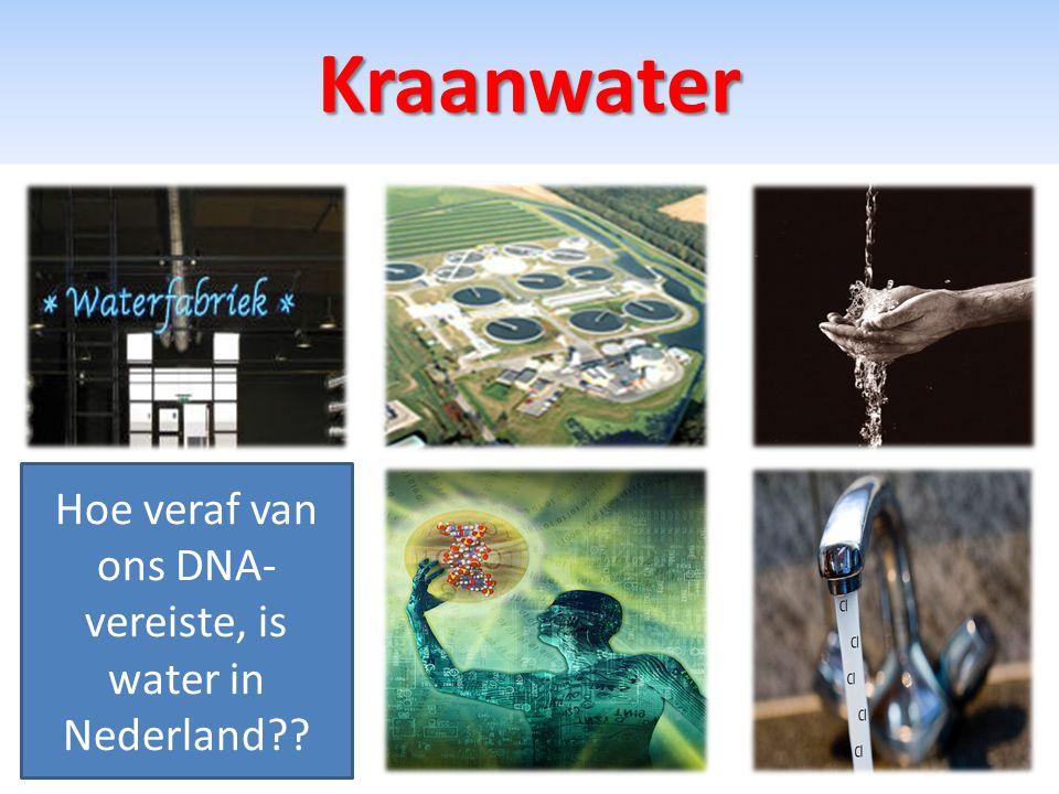 Kraanwater Hoe veraf van ons DNA- vereiste, is water in Nederland??