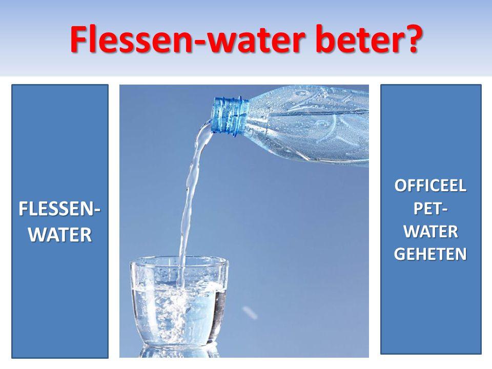 PET-Water 1 • PET- water bevat geen jodium.En Mineralen.
