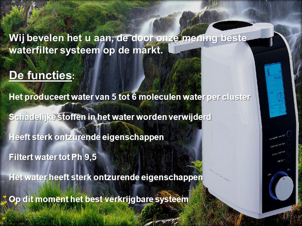 Wij bevelen het u aan, de door onze mening beste waterfilter systeem op de markt. De functies : waterfilter systeem op de markt. De functies : Het pro