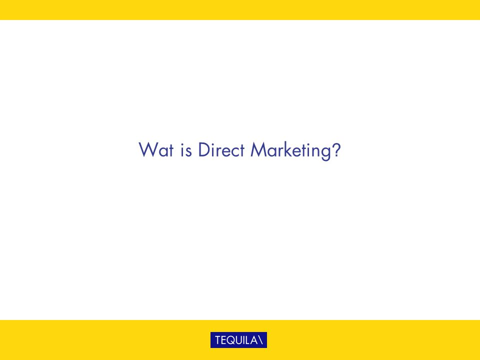 Wat is Direct Marketing?