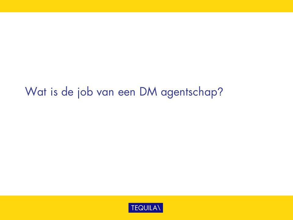 Wat is de job van een DM agentschap?