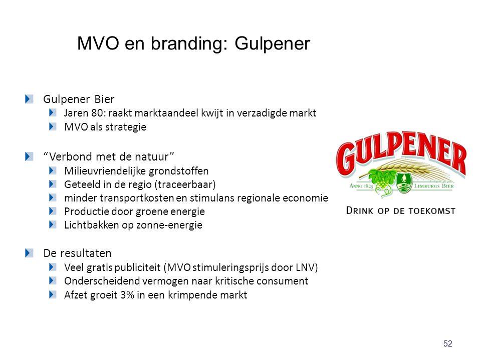 """52 Gulpener Bier Jaren 80: raakt marktaandeel kwijt in verzadigde markt MVO als strategie """"Verbond met de natuur"""" Milieuvriendelijke grondstoffen Gete"""