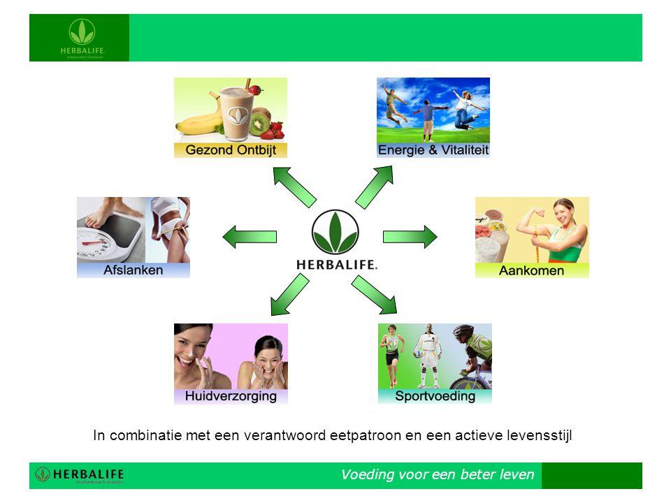 Voeding voor een beter leven In combinatie met een verantwoord eetpatroon en een actieve levensstijl
