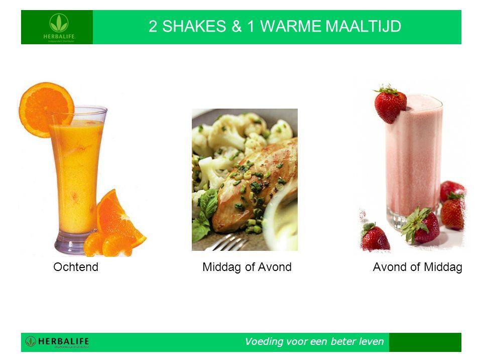 Voeding voor een beter leven 2 SHAKES & 1 WARME MAALTIJD OchtendMiddag of AvondAvond of Middag