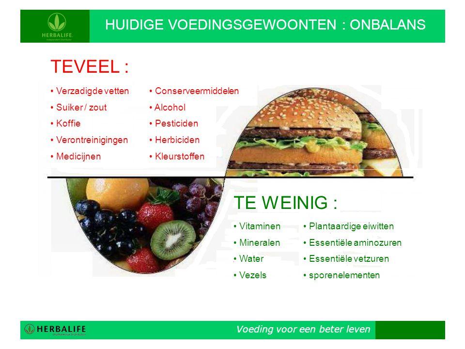Voeding voor een beter leven HERBALIFE: MILJOENEN TEVREDEN GEBRUIKERS • Gespecialiseerd in innerlijke en uiterlijke voeding ('Total Nutrition') • Op de markt sinds 1980 • In Nederland sinds 1993 • In meer dan 81 landen gekeurde en goedgekeurde voedingsproducten • In orde met de megadosiswet en etikettenwet • Beursgenoteerd op de NYSE • Mét een 30 dagen – niet tevreden – geld terug garantie.