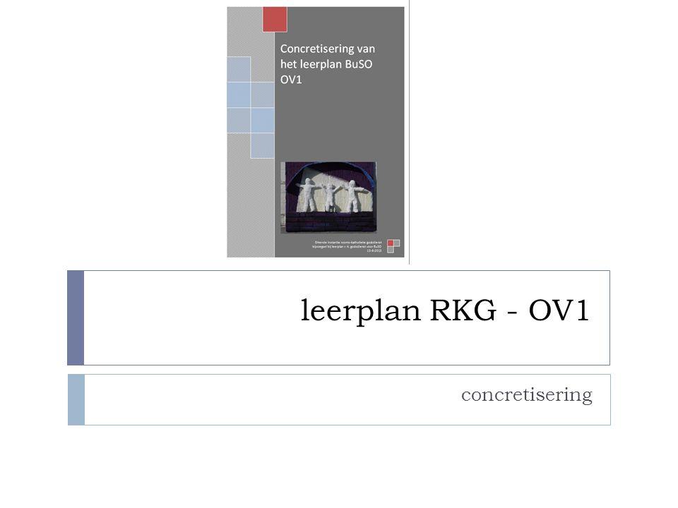 leerplan RKG - OV1 concretisering